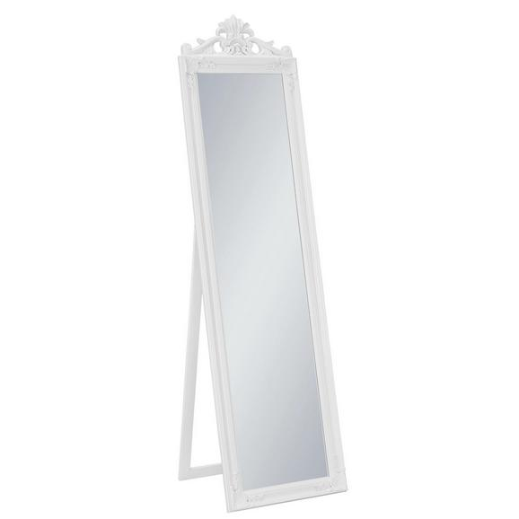 Standspiegel ca. 45x170x3,5cm - Weiß, Glas/Holz (45/170/3,5cm) - Mömax modern living
