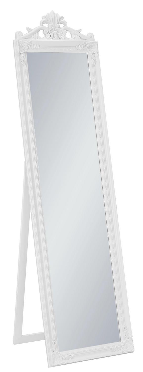 Stoječe Ogledalo Barock Bela Barva - bela, steklo/les (45/170/3,5cm)