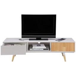 tv mobel evlyn hellgrau kieferfarben modern holz metall 160