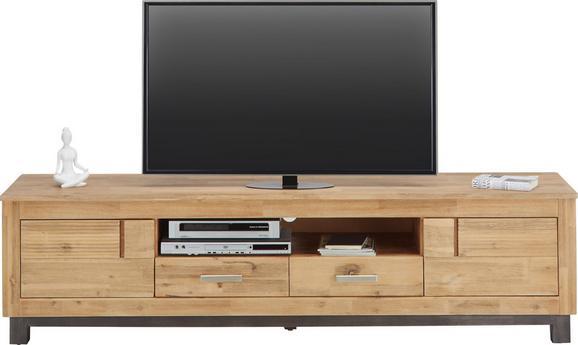 TV-Element Akaziefarben - Akaziefarben/Grau, KONVENTIONELL, Holz/Metall (190/50/45cm) - Zandiara