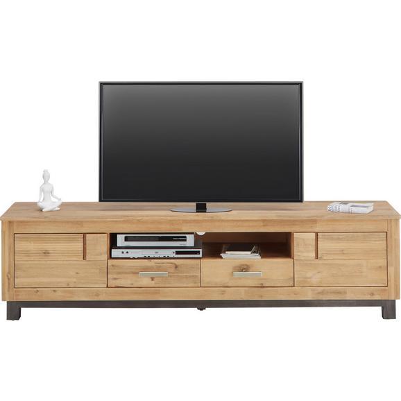 TV-Element in Akaziefarben teilmassiv - Akaziefarben/Grau, KONVENTIONELL, Holz/Metall (190/50/45cm) - Zandiara