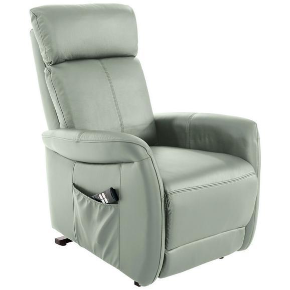 Tv Fotelja Hamilton - svijetlo siva/crna, Konventionell, koža/metal (90/108/74cm)