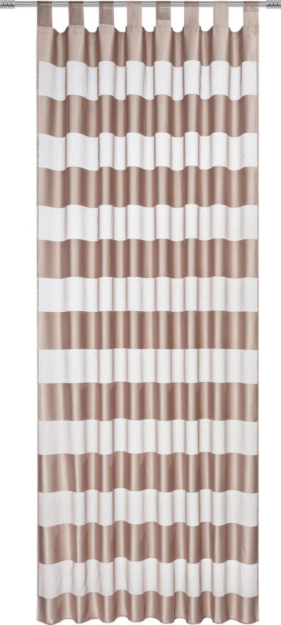 Končana Zavesa Sonja -top- - rjava, Konvencionalno, tekstil (140/245cm) - Mömax modern living