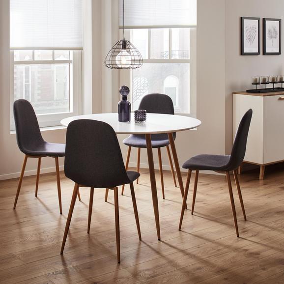 Tisch John Ø ca.110cm - Eichefarben/Weiß, MODERN, Holz/Metall (110/76cm) - Modern Living