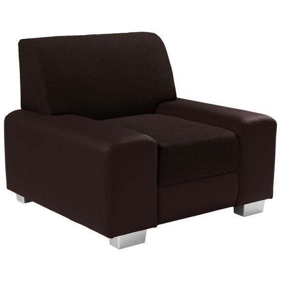 Fotelja Miami - tamno smeđa/smeđa, Modern, drvo/metal (104/81/90cm) - Modern Living