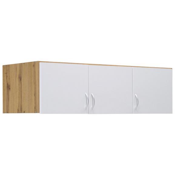 Aufsatzschrank in Eichefarben - Eichefarben/Alufarben, MODERN, Holzwerkstoff/Kunststoff (136/39/54cm) - Modern Living