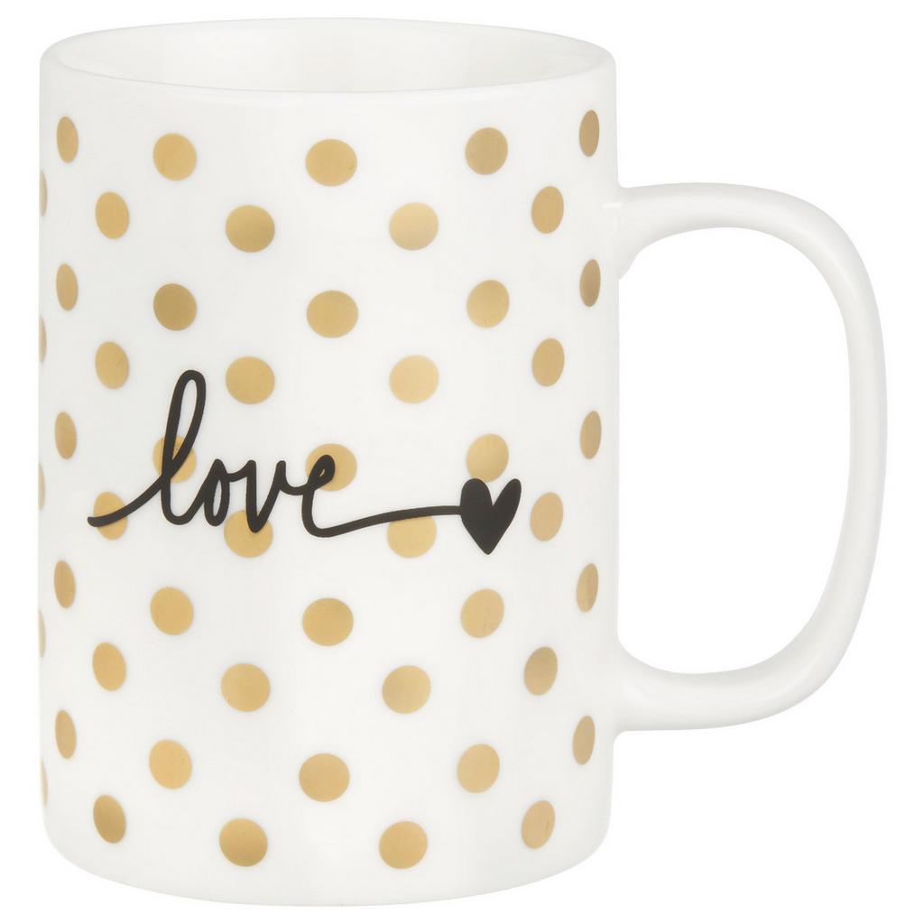 Kaffeebecher Gloria Weiß/gold