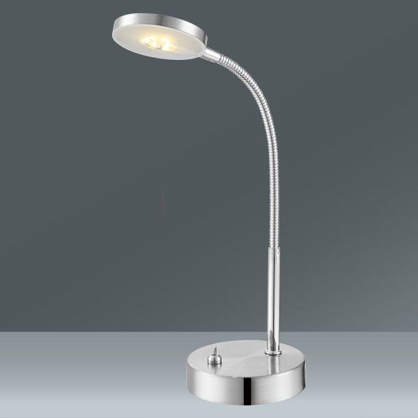Asztali Lámpa Holger - krómszínű, modern, fém (17,5/11/30cm) - MÖMAX modern living
