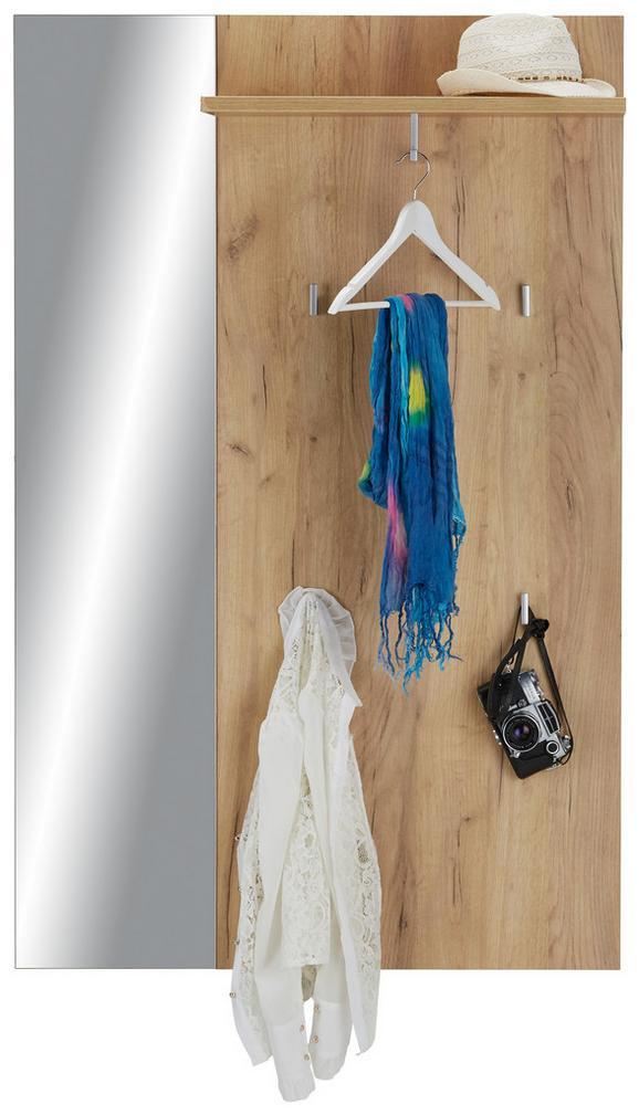 Garderobenpaneel Eichefarben - Eichefarben, MODERN, Holzwerkstoff (92/144/28cm)