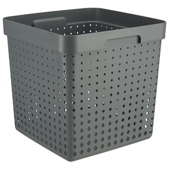 Korb Seoul aus Kunststoff in Grau - Grau, KONVENTIONELL, Kunststoff (29,6/29,6/29,6cm)