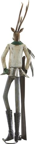 Dekohirsch Skihaserl - Silberfarben, MODERN, Metall (23,5/21/88,3cm) - MÖMAX modern living