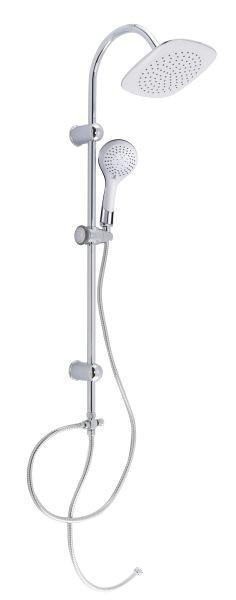 Brauseset Teneriffa in Weiß/Chromfarben - Chromfarben/Weiß, Kunststoff/Metall (79,5/24,5/6,5cm) - MÖMAX modern living