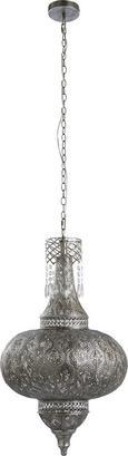 Pendelleuchte Sarala - Silberfarben, MODERN, Metall (42/170cm) - Modern Living