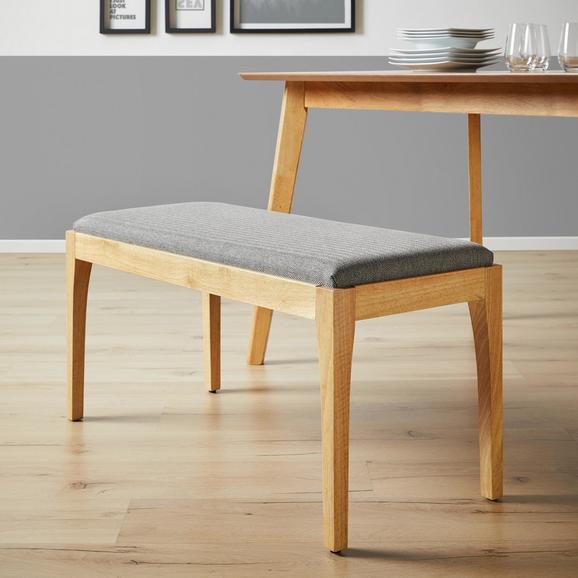 Sitzbank Jarry - Grau, MODERN, Holz/Textil (92/46/39cm) - MÖMAX modern living