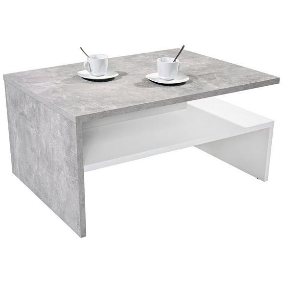 Măsuță De Canapea Laura - alb/gri, Modern, compozit lemnos (90/42/60cm)