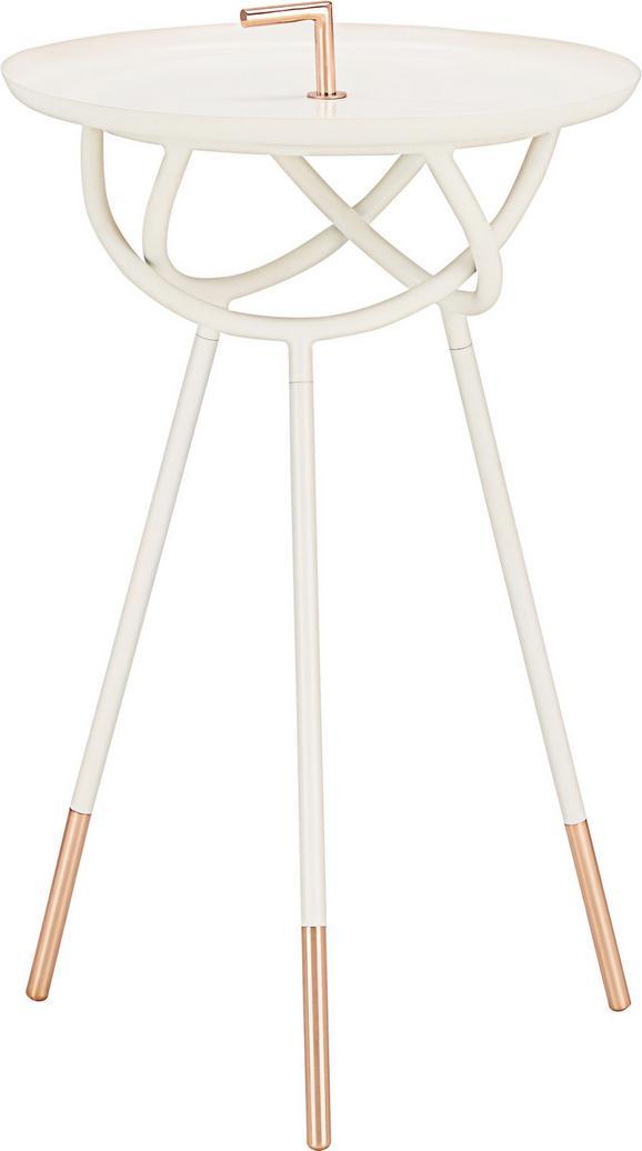 Beistelltisch in Weiß/kupfer - Goldfarben/Weiß, Metall (41/66cm) - Mömax modern living