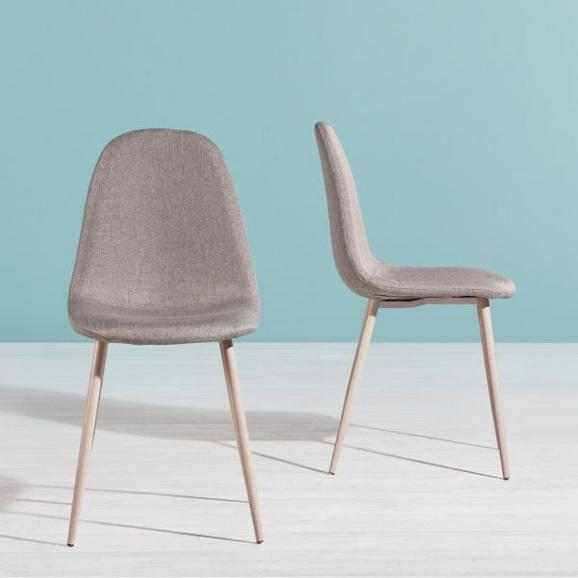 Stuhl Jessica - Eichefarben/Hellgrau, MODERN, Textil/Metall (54/87/45cm) - MODERN LIVING