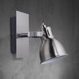 Wandspot Ina - Chromfarben, MODERN, Metall (14/8/14cm) - Modern Living