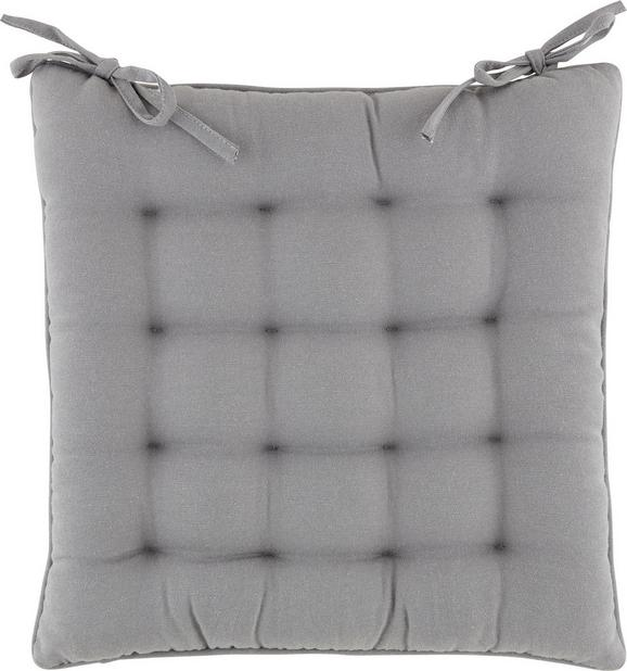 Sitzkissen Alan, ca. 40x40cm - Taupe/Türkis, Textil (40/40cm) - MÖMAX modern living
