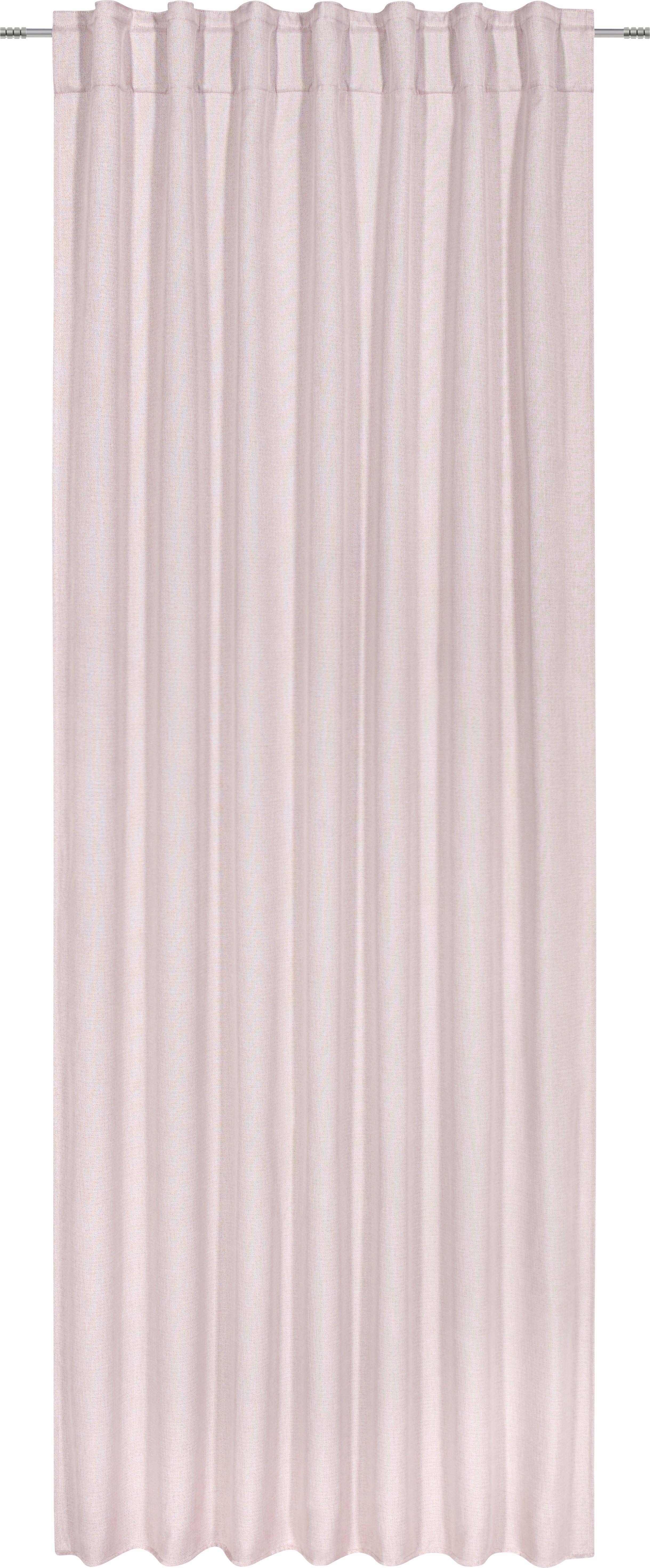 Készfüggöny Jakob - rózsaszín, textil (140/245cm) - MÖMAX modern living