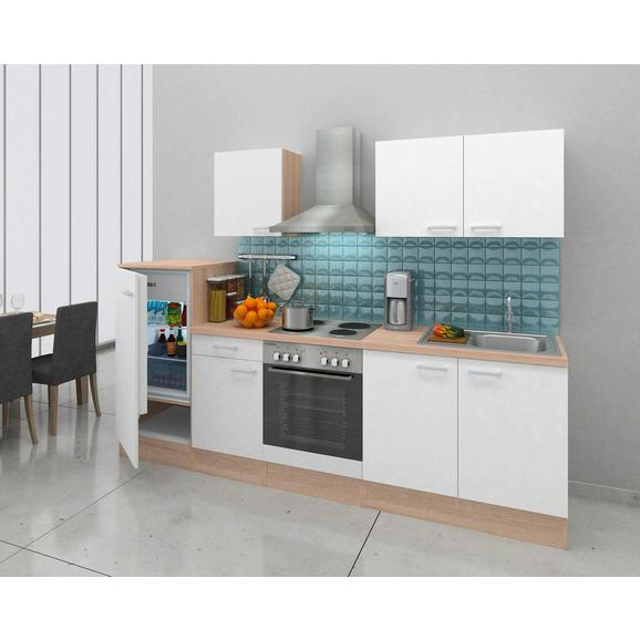 Küchenblock ECONOMY 270 - Eichefarben/Weiß, Basics, Holzwerkstoff (270/200/60cm) - Livetastic