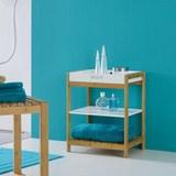 Badezimmerregal Mirella - Weiß, MODERN, Holz/Holzwerkstoff (40/50/30cm) - Modern Living