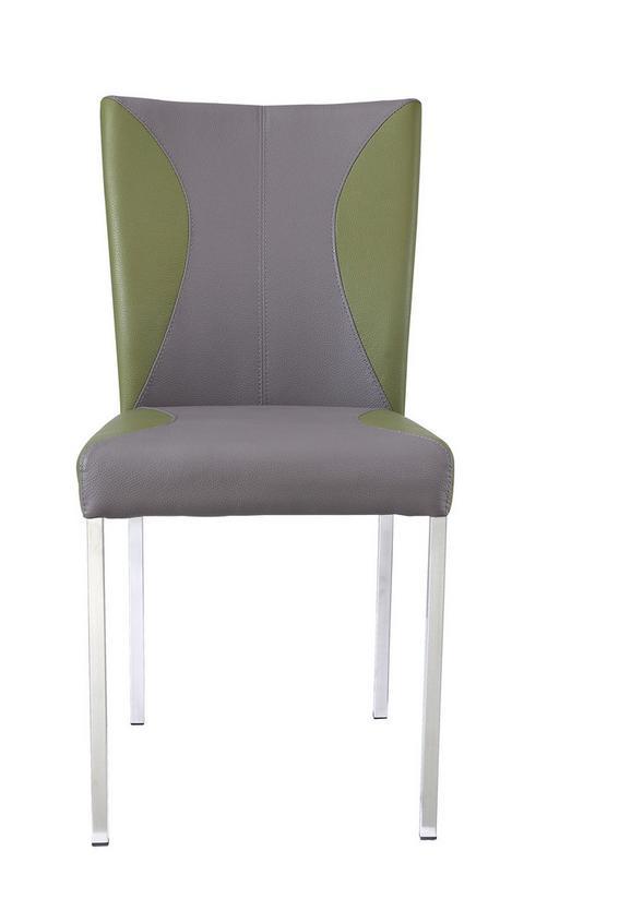 Stuhl in Grün/taupe - Taupe/Grün, MODERN, Textil/Metall (46/90/62cm) - Mömax modern living