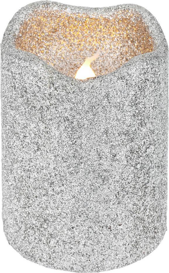 Sveča Z Led-diodo Marie - srebrna (7/9cm)