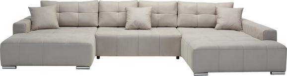 Sarokgarnitúra Allesio - Bézs, modern, Textil (170/411/210cm) - Modern Living