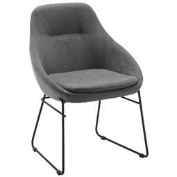 Stuhl Vivian   Schwarz/Grau, MODERN, Textil/Metall (58,5