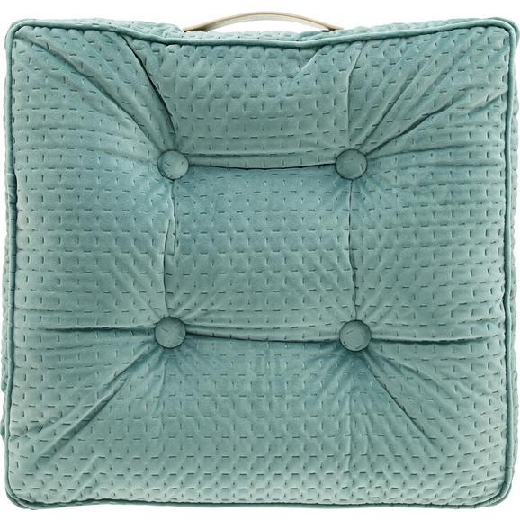 Sitzkissen Miley ca.45x45cm in Mint - Mintgrün, MODERN, Textil (45/45/8cm) - Bessagi Home