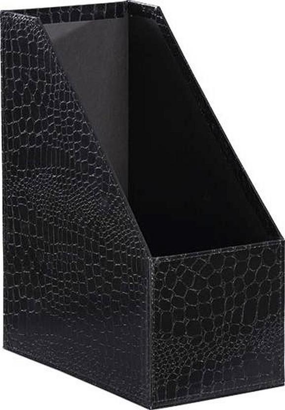 Iratrendező Krokodilbőr Hatású - Fekete, Lifestyle, Karton (29/12,8/23,5cm) - Mömax modern living