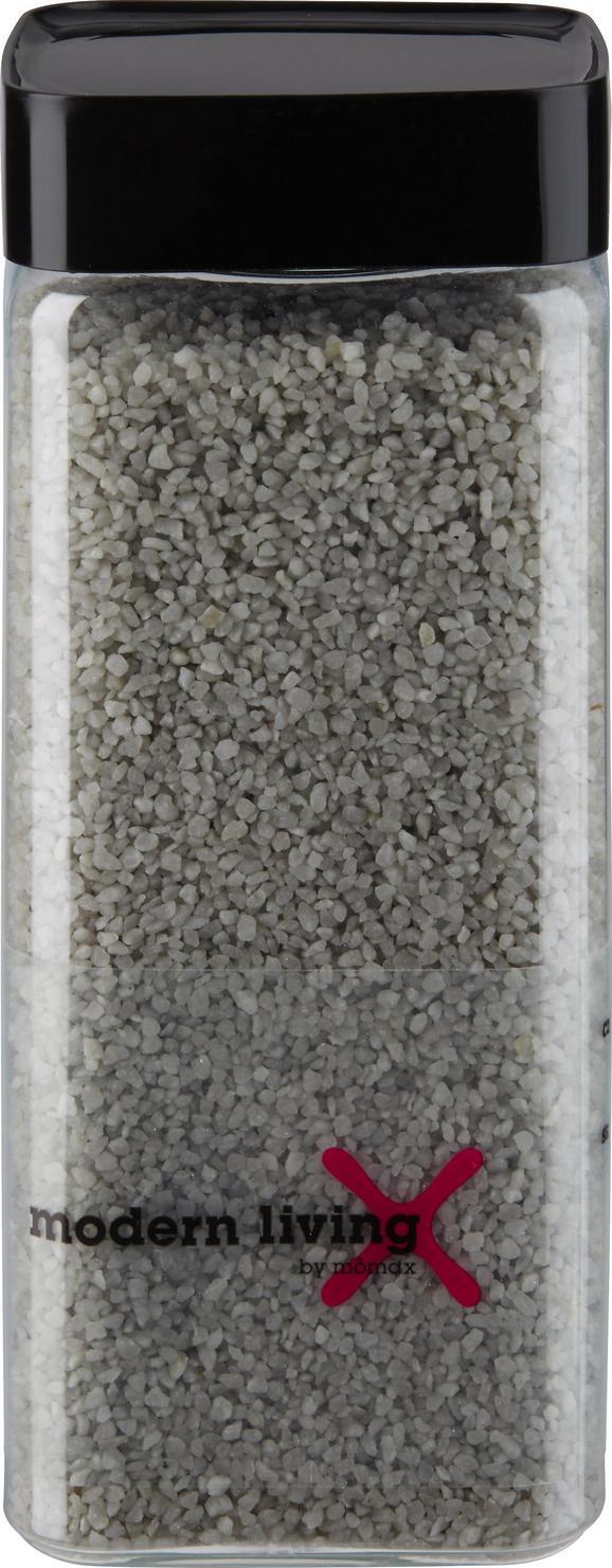 DEKOGRANULAT Perlkies in Grau aus Stein - Grau, KONVENTIONELL, Stein (0,550l)