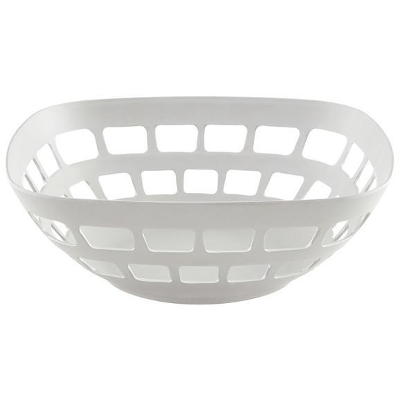 Obstkorb Solveig in Weiß - Weiß, MODERN, Naturmaterialien/Holzwerkstoff (30/11cm) - Premium Living