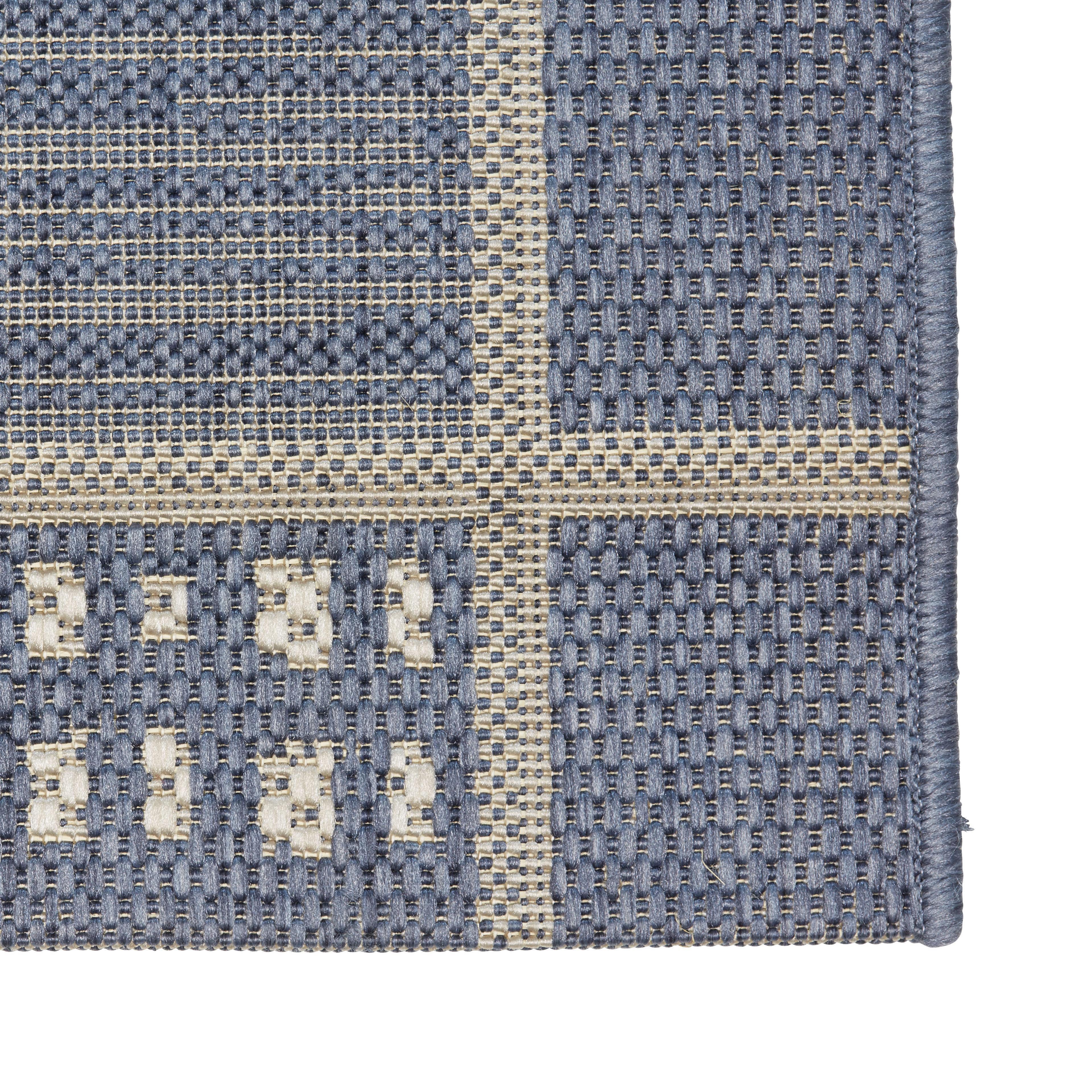 Flachwebeteppich Emil in Blau, ca. 80x200cm - Blau, KONVENTIONELL, Textil (80/200cm) - MÖMAX modern living