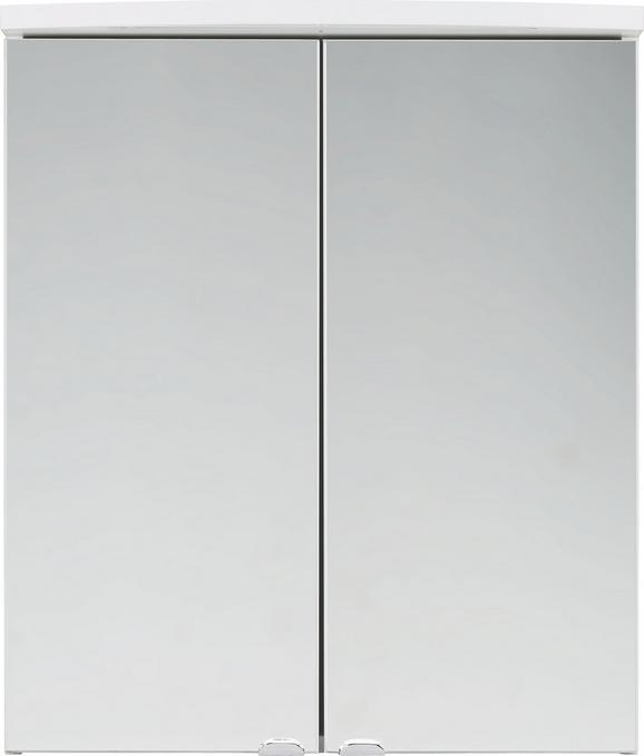 Omara Z Ogledalom Stream - bela, steklo/les (60/70/25cm) - Mömax modern living
