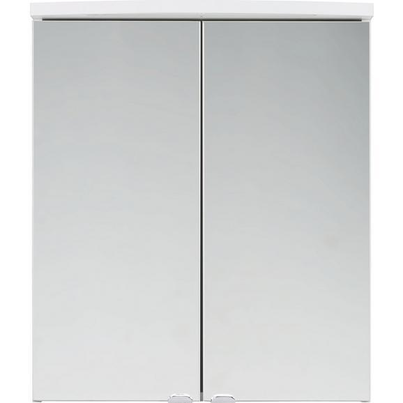 Spiegelschrank Weiß - Weiß, Glas/Holz (60/70/25cm) - Mömax modern living