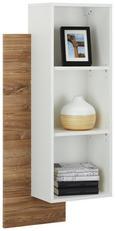 Wandregal Weiß/Eiche - Eichefarben/Weiß, MODERN, Holzwerkstoff (50/97/25cm) - Modern Living