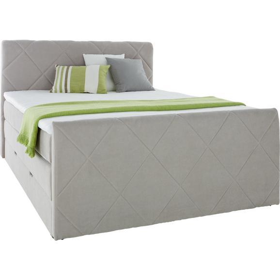 boxspringbett grau 160x200cm online kaufen m max. Black Bedroom Furniture Sets. Home Design Ideas