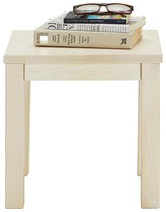 Nachtkästchen in Weiß Aus Massiv Holz - Kieferfarben, Holz (35/35/35cm) - Modern Living