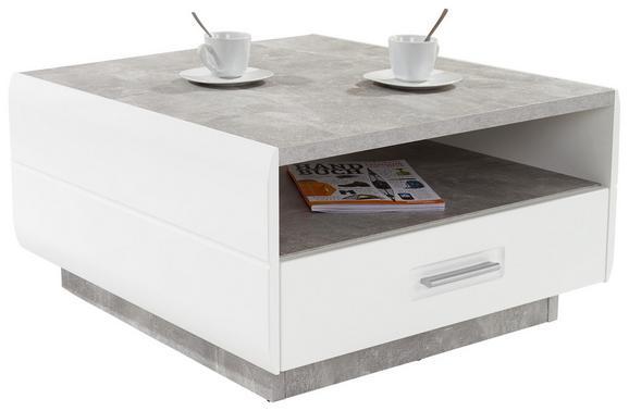 Dohányzóasztal Avensis - Szürke/Fehér, modern, Faalapú anyag (75/40/75cm) - Luca Bessoni