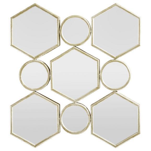 Spiegel in Gold antik ca. 88/85,5/6,5 cm 'Beni' - Goldfarben, MODERN, Glas/Holzwerkstoff (88/85,5/6,5cm) - Bessagi Home