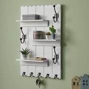 Wandgarderobe Lola - Weiß, MODERN, Holz/Metall (50/80/13cm) - Modern Living