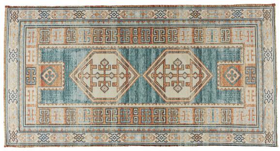 Flachwebeteppich Amelie Bunt 65x130cm - Multicolor, ROMANTIK / LANDHAUS, Kunststoff (65/130cm) - Mömax modern living