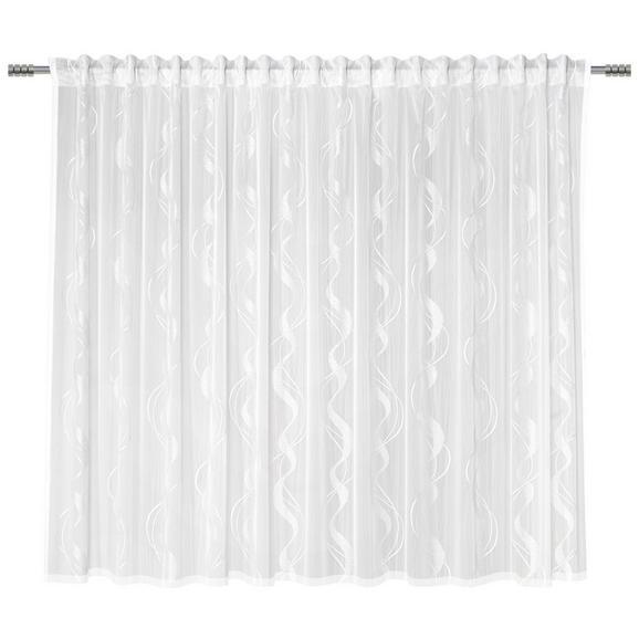 Fertigvorhang Wave Store Weiß 300x175cm - Weiß, Textil (300/175cm) - Mömax modern living