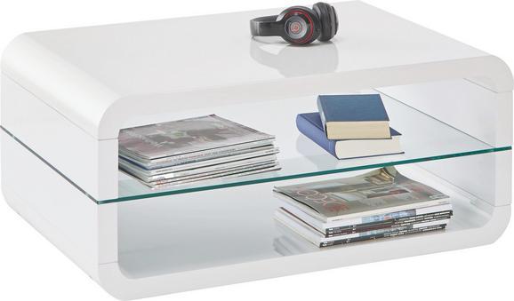 Couchtisch Weiß Hochglanz - Weiß, MODERN, Glas (90/40/60cm) - MÖMAX modern living