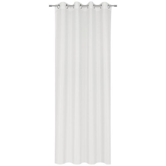 Perdea Cu Inele Tip Capsă Iceland - alb, textil (140/245cm) - Modern Living
