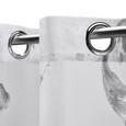 Store in Weiß ca. 140x245 cm 'Madleine' - Weiß, MODERN, Textil (140/245cm) - Bessagi Home