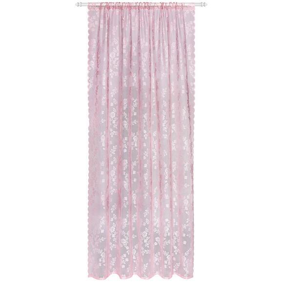Fertigvorhang Babette Dunkelrosa 140x245cm - Dunkelrosa, ROMANTIK / LANDHAUS, Textil (140/245cm) - Zandiara