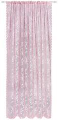 Končana Zavesa Babette - temno roza, Romantika, tekstil (140/245cm) - Zandiara